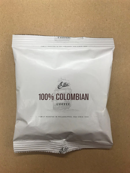 Ellis 100% Columbian coffee 1.5oz/ 42 count (filters included)