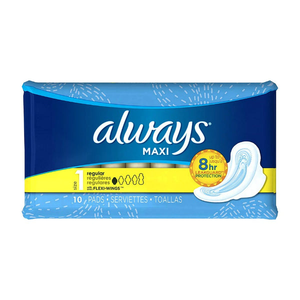 Always Maxi with Wings Regular 10 count