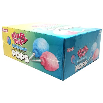 Charms Fluffy Stuff Cotton Candy Pops 48 count