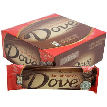 Dove Dark Chocolate 1.44oz/ 18 count