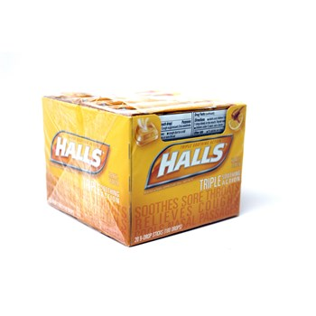 Halls Stick Honey Lemon 9pc/ 20 count