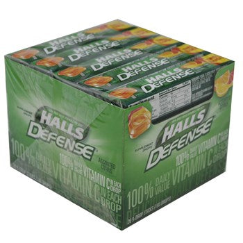 Halls Stick Defense Vit-C Citrus 9pc/ 20 count