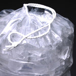 "Ice Bags 10lb Printed ""Ice"" 500 count with Drawstring"