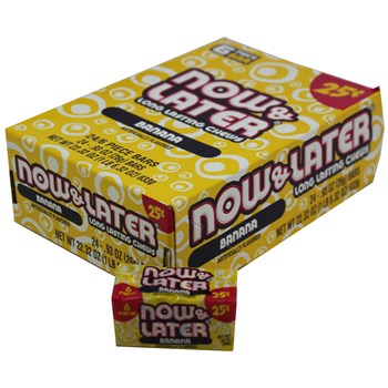 Now & Later Banana PP25¢ .93oz 24 count