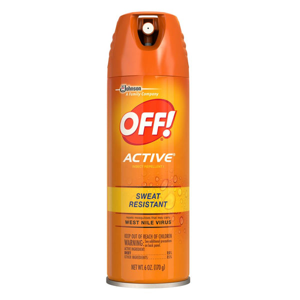 Off Active 6oz Bug Spray Sweat Resistant