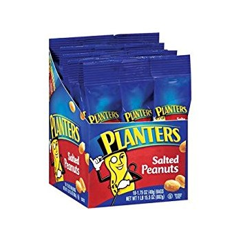 Planters Salted Peanuts Tubes 2/$1.09 1.75oz/ 18 count