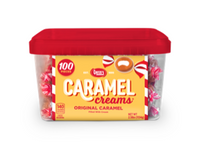 Caramel Creams 25¢ Tub 100 count
