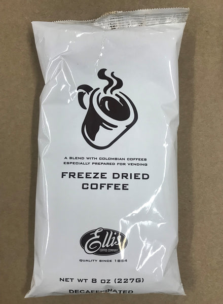 Ellis Freeze Dried Decaf Coffee 8oz