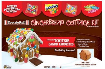 Christmas Tootsie Gingerbread Cottage Kit