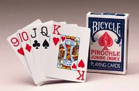 Pinochle Cards Jumbo Bicycle 12 count