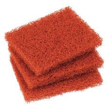 "Griddle Heavy Duty Pad 4""x5.25"" Scotch Brite Orange 15 count"
