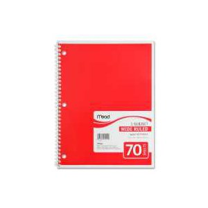 Mead Spiral Notebook 8x10