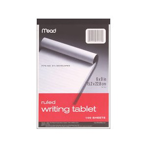 Mead Ruled Writing Tablet 6x9