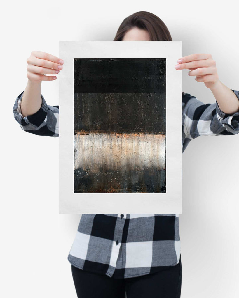 Fine Art Paper Print /  Abstract 333-009 / Portrait Orientation