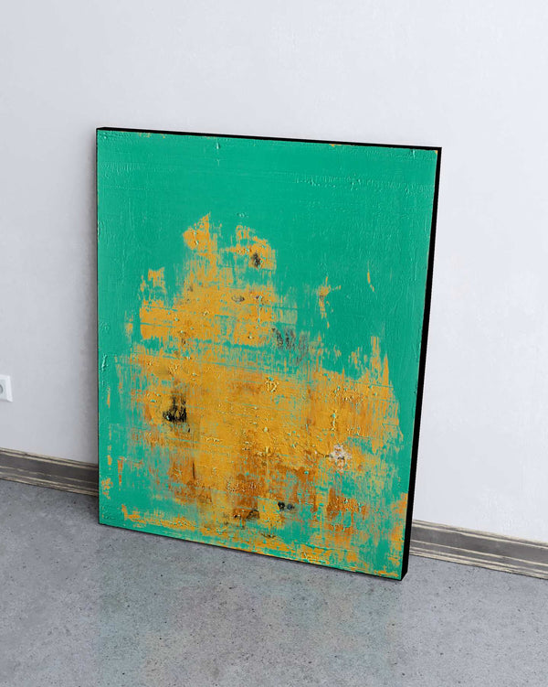 Mint Gold / 38''x 30''/ Acrylic on Canvas / 2020