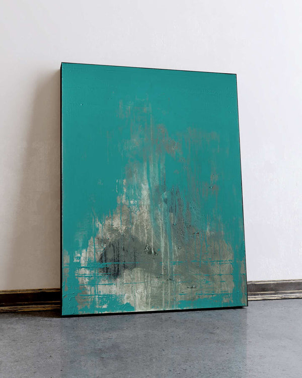 Teal Shadow / 40''x 30''/ Acrylic on Canvas / 2020
