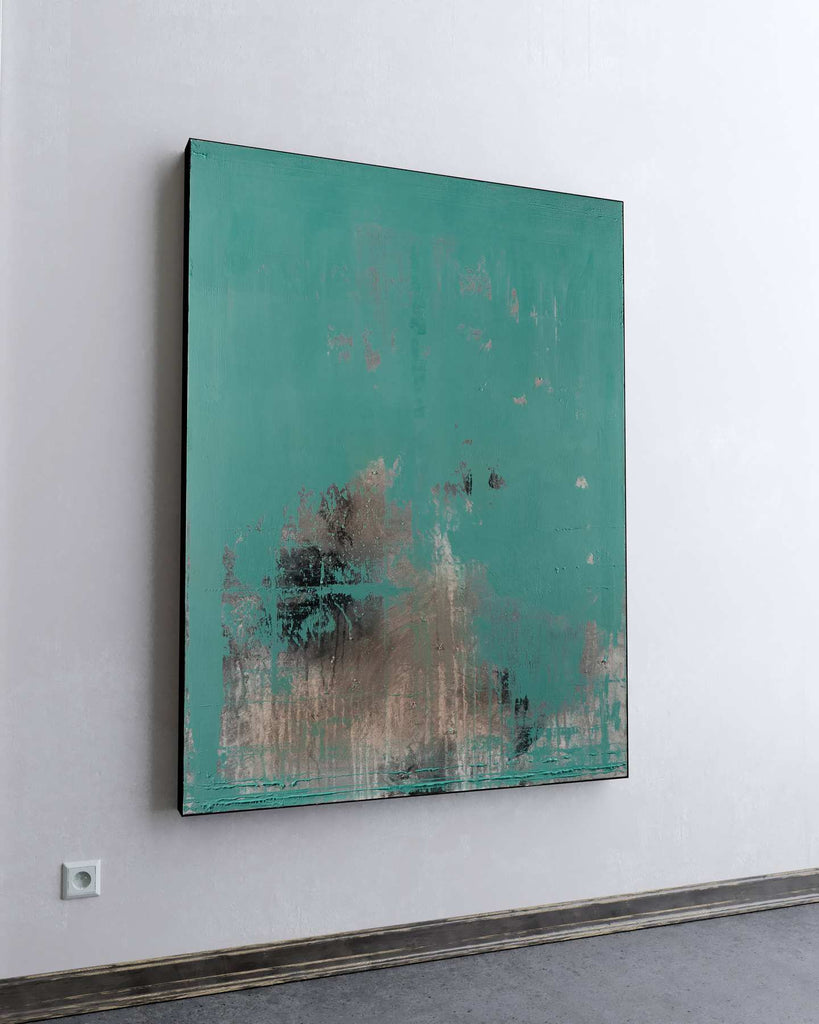 Teal Stone / 48''x 36''/ Acrylic on Canvas / 2020