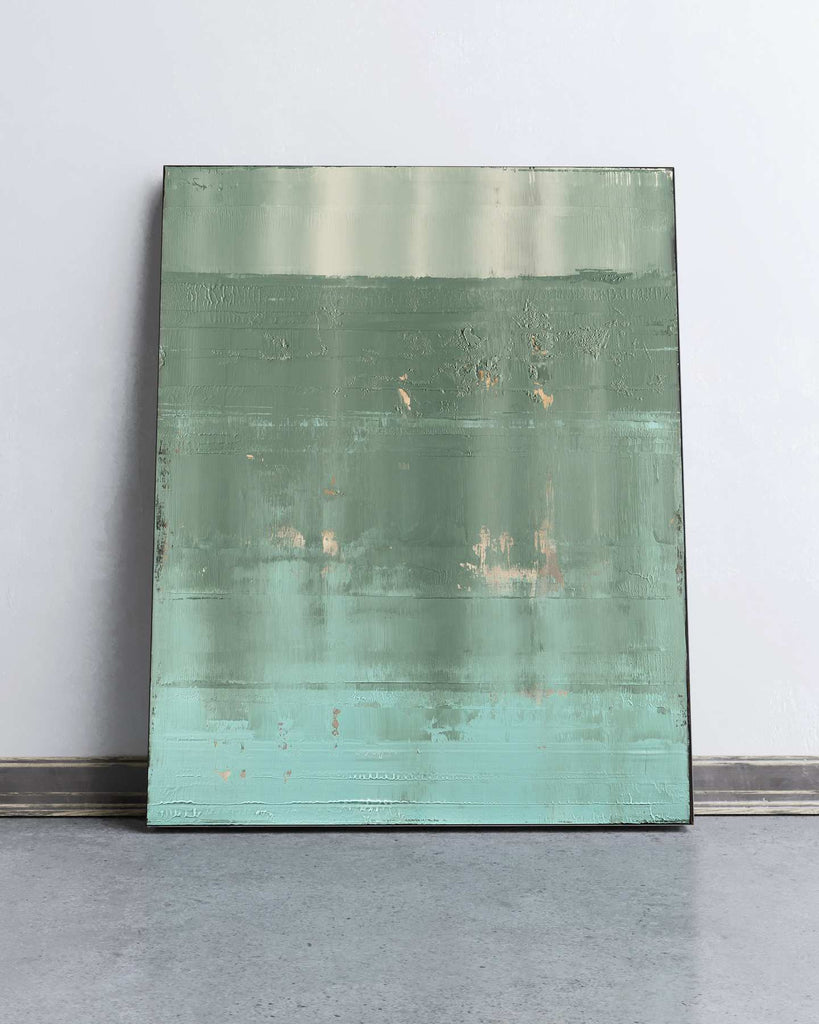 Teal Horizon / 38''x 30''/ Acrylic on Canvas / 2019