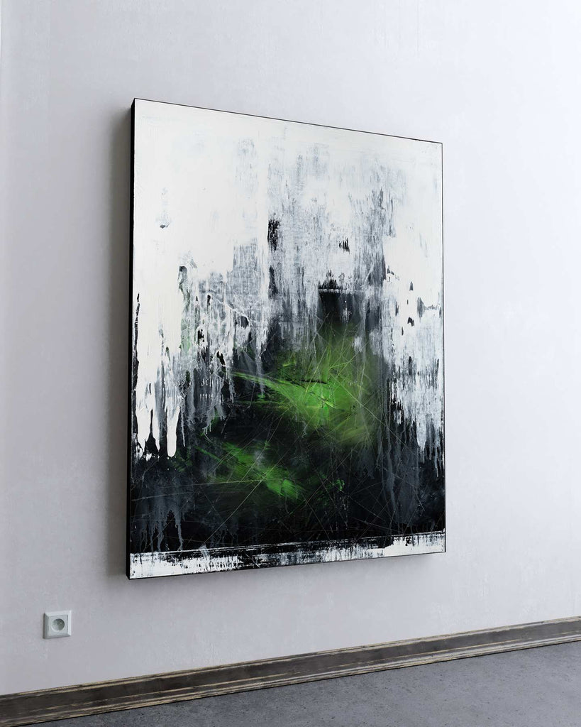 Viridis Caelum / 48''x 36''/ Acrylic on Canvas / 2021