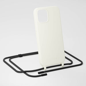 Chalk Silicone Case + Black Rope