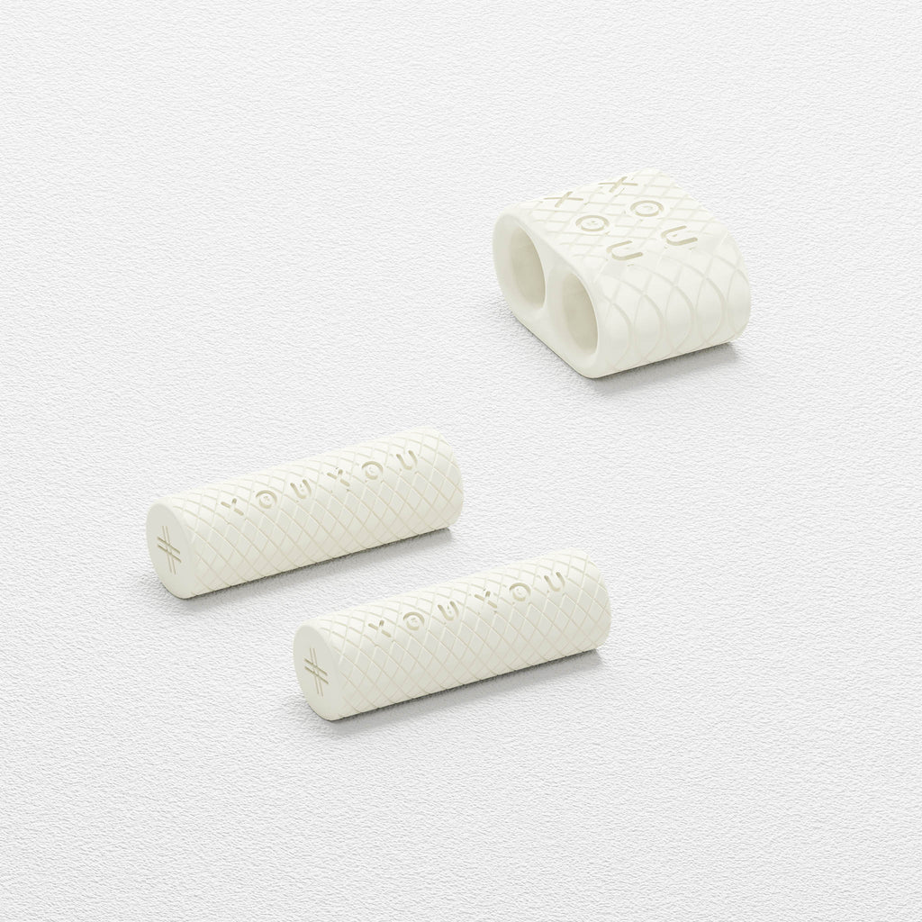 Chalk White metal parts for Modular Ropes by XOUXOU