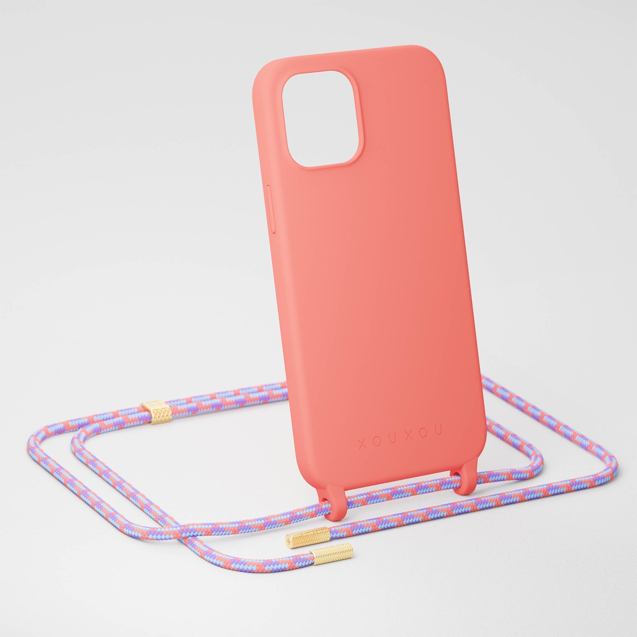 Living Coral Silicone Case + Rope