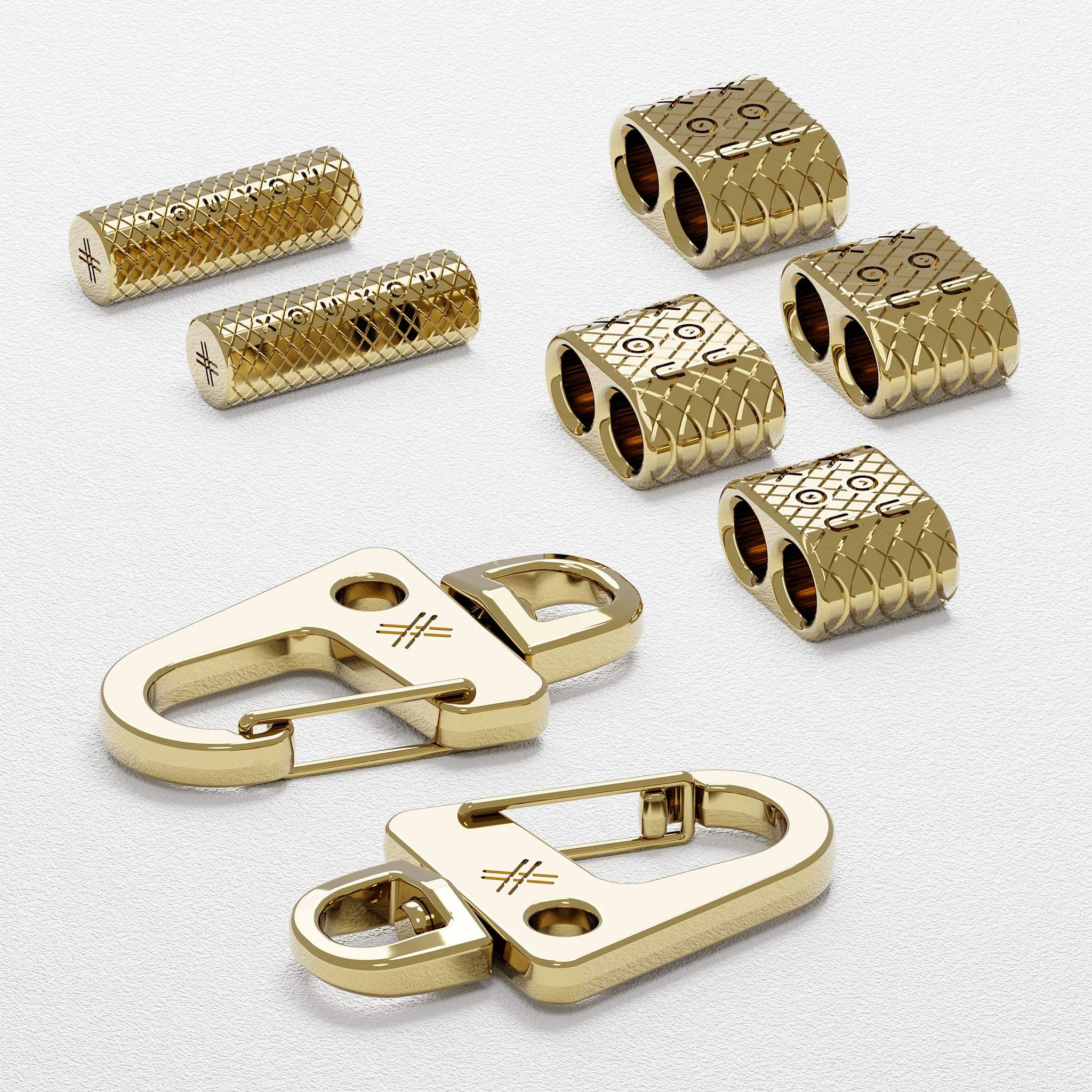 Glossy Gold Carabiner Rope Metal Parts