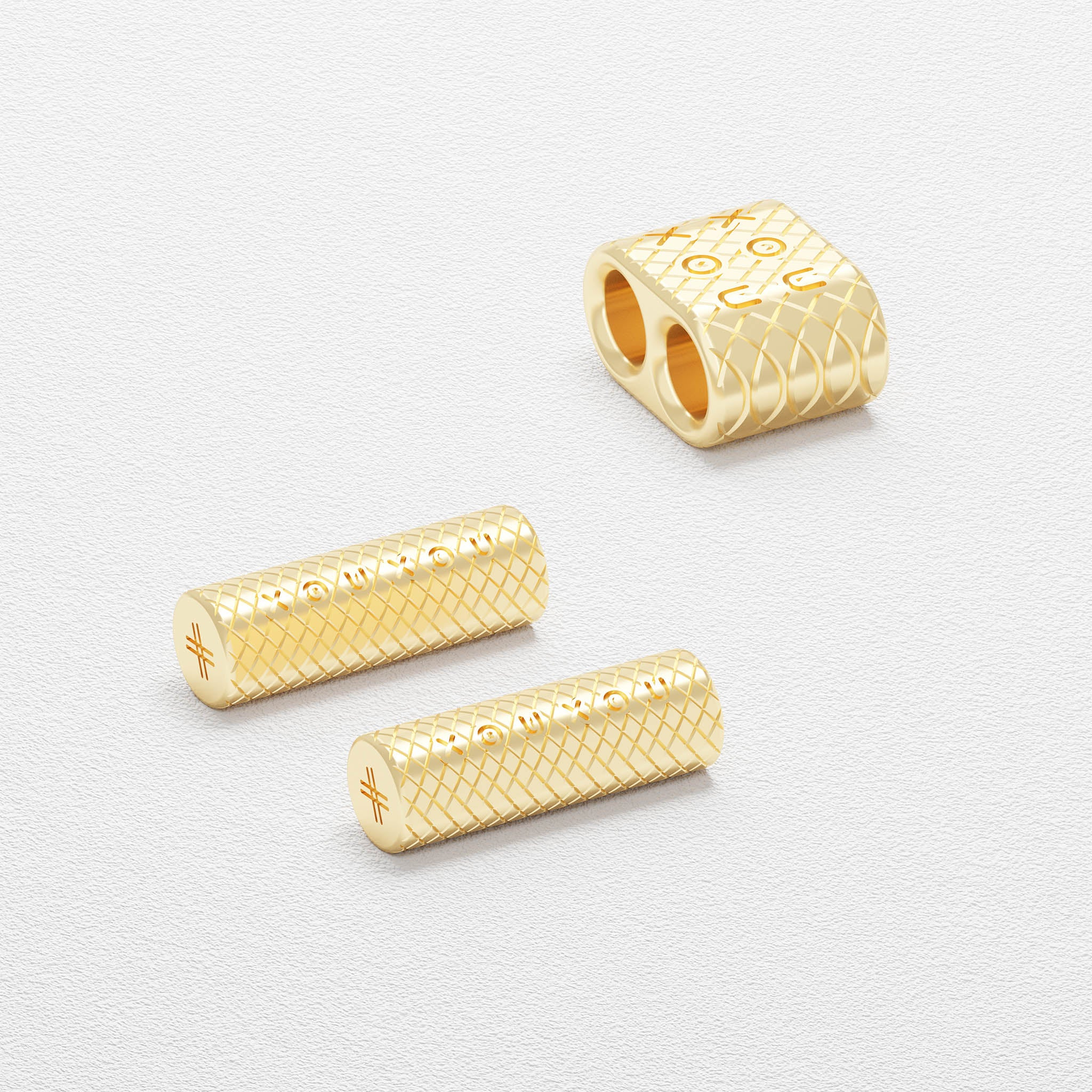 Glossy Gold metal parts for Modular Ropes by XOUXOU
