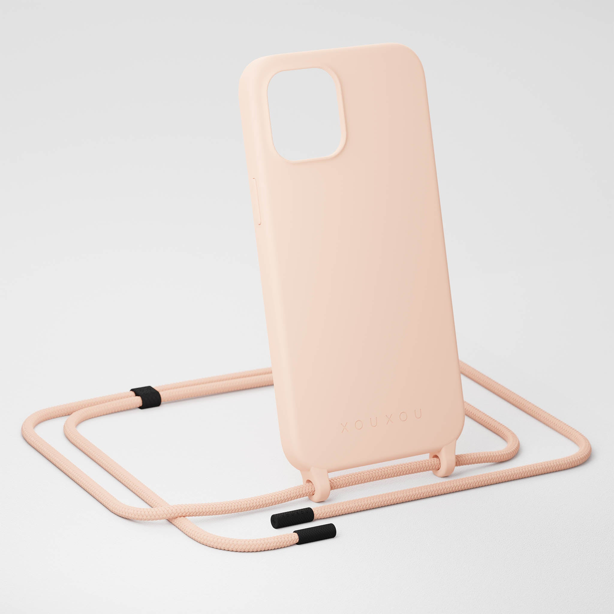 Powder Pink Silicone Case + Rope
