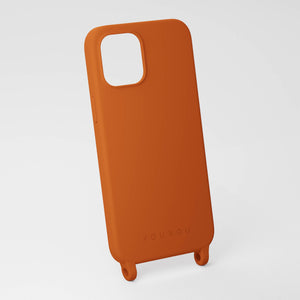 Rusty Red silicone phone case by XOUXOU