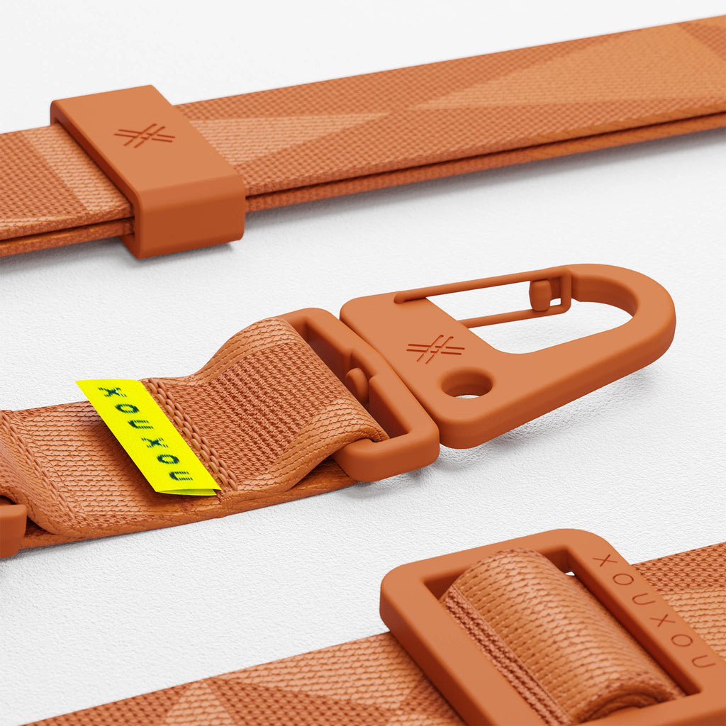 Rusty Red lanyard for Modular phone case by XOUXOU