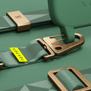 Sage Green silicone phone case with strap by XOUXOU