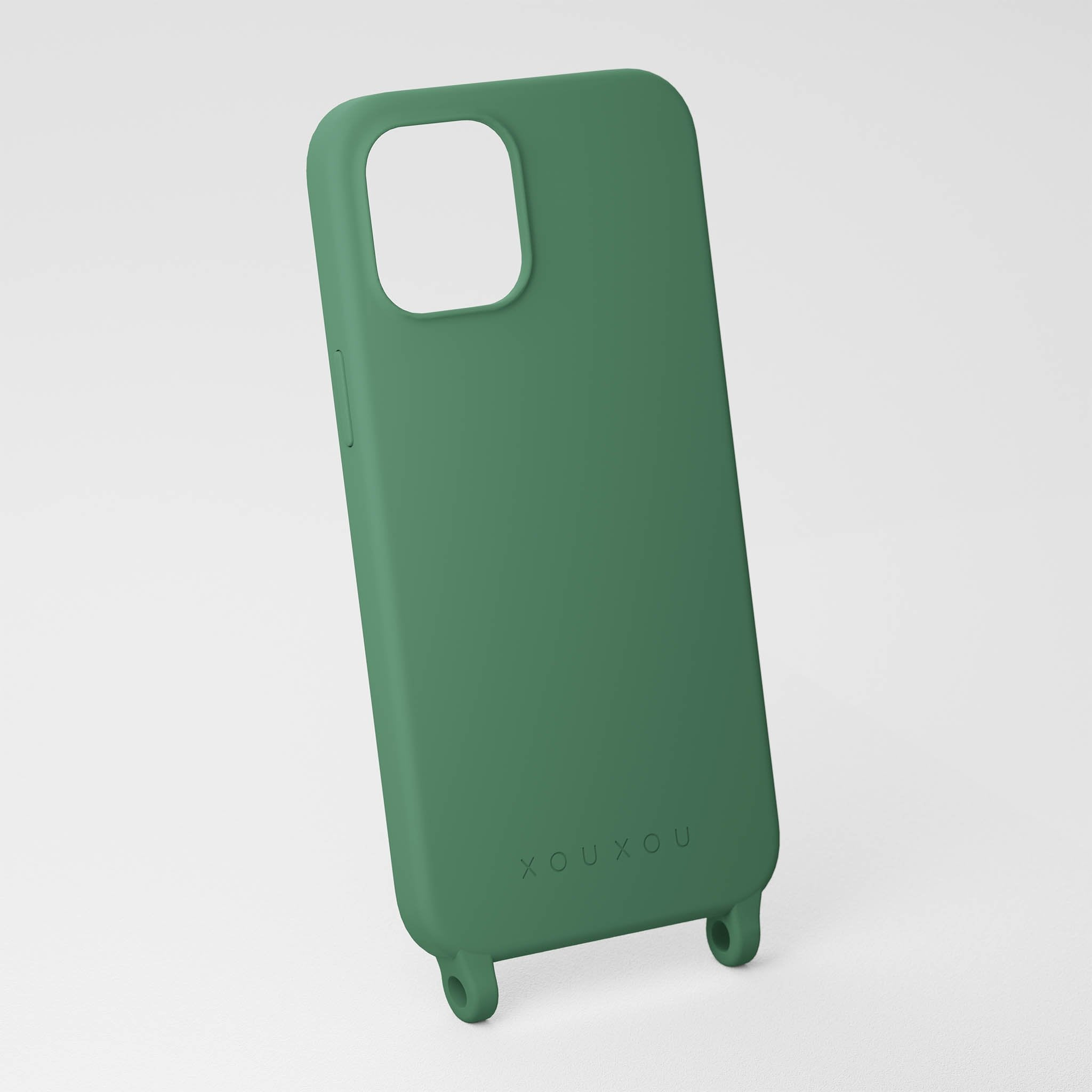 Sage Green silicone phone case by XOUXOU