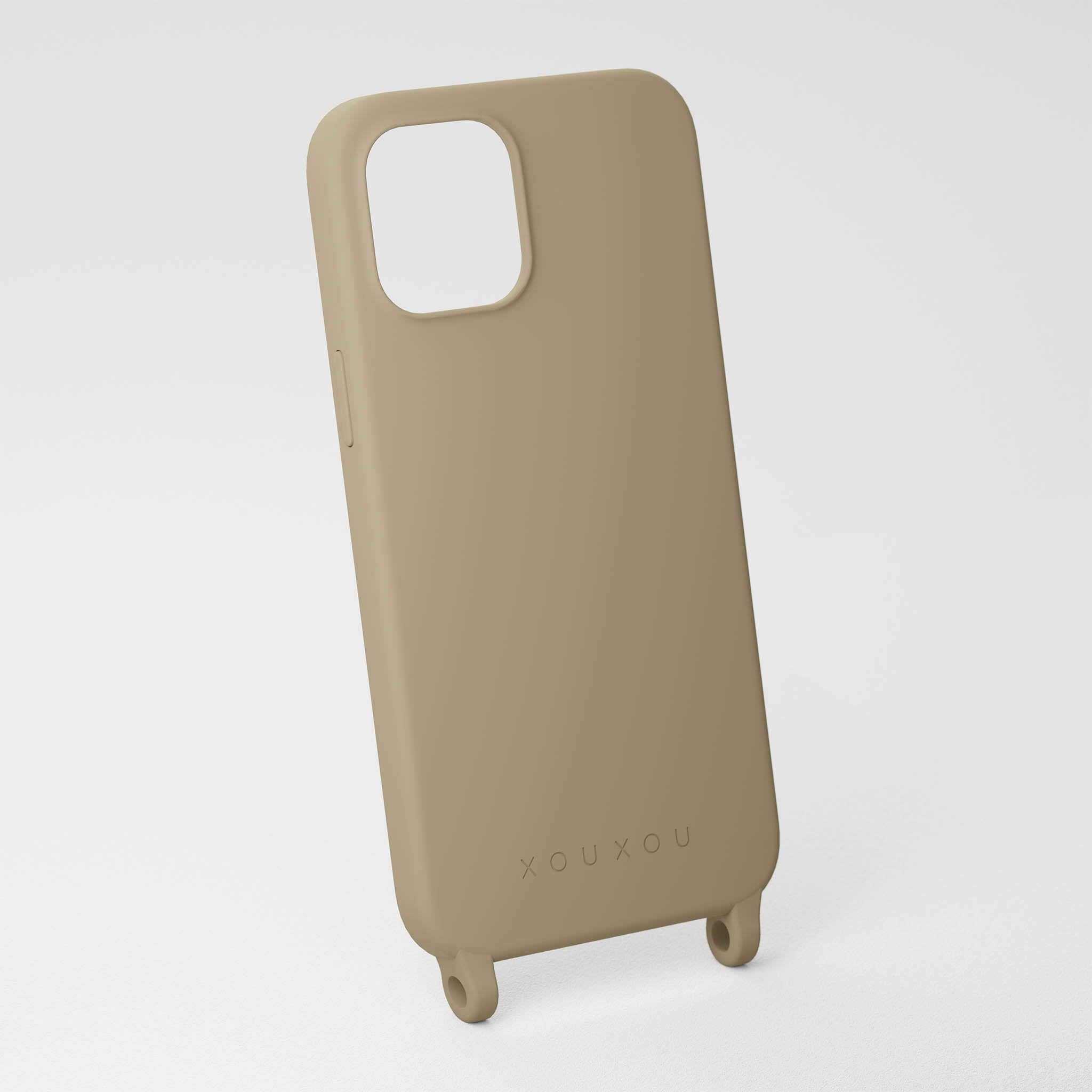 Taupe Gray silicone phone case by XOUXOU