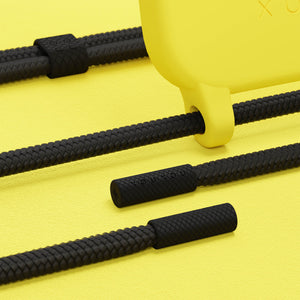 Yellow Silicone Case + Black Rope