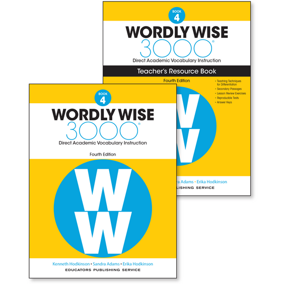 Wordly Wise 3000, Grade 4 Classroom Set (25 Student Books  1 Teacher's  Resource Book, Quizlet Access)