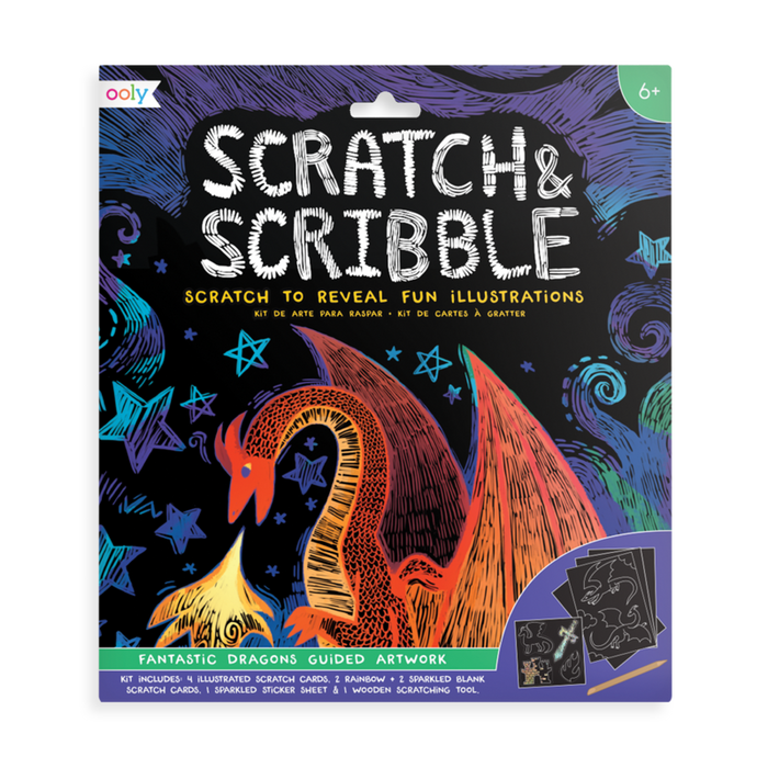 fantastic dragon scratch and scribble art kit