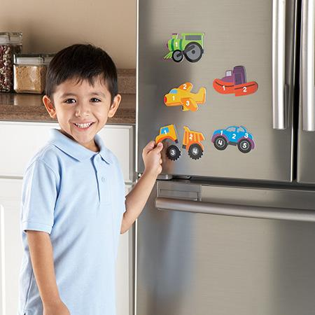 Magnetic Counting Vehicle Puzzles