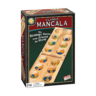 Mancala Board Game with Stones