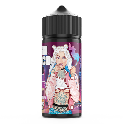 FRESH VAPE CO URBAN AVENUE 100ML SHORTFILL E-LIQUID - FRUITY GRAPE BLUE RASPBERRY MENTHOL