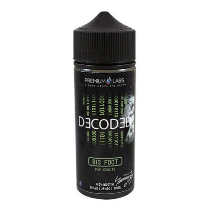 DECODED BIG FOOT 100ML SHORTFILL E-LIQUID - DESSERT DOUGHNUT CINNAMON