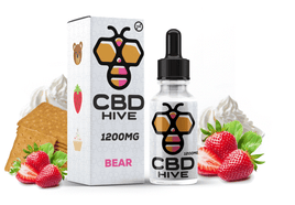 CBD HIVE BEAR STRAWBERRY CUPCAKE TINCTURE DROPS 1200MG 60ML