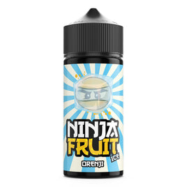 NINJA FRUIT ORENJI ICE NEW 100ML SHORTFILL E-LIQUID - FRUITY ORANGE MANGO PINEAPPLE MENTHOL
