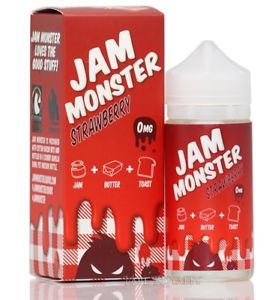 JAM MONSTER STRAWBERRY 100ML SHORTFILL E-LIQUID - FRUITY STRAWBERRY JAM BUTTER TOAST