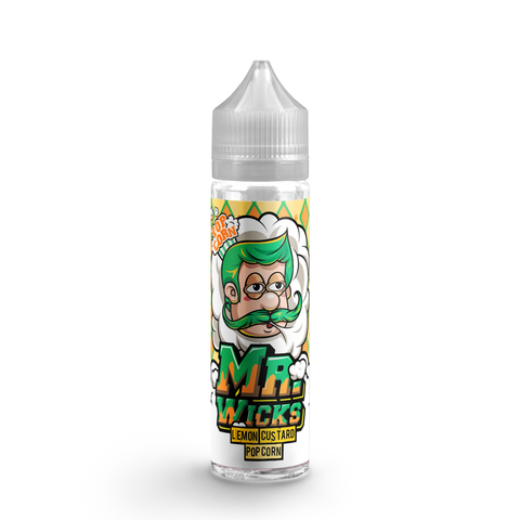 MR WICKS LEMON CUSTARD POPCORN 50ML SHORTFILL E-LIQUID - DESSERT LEMON CUSTARD POPCORN