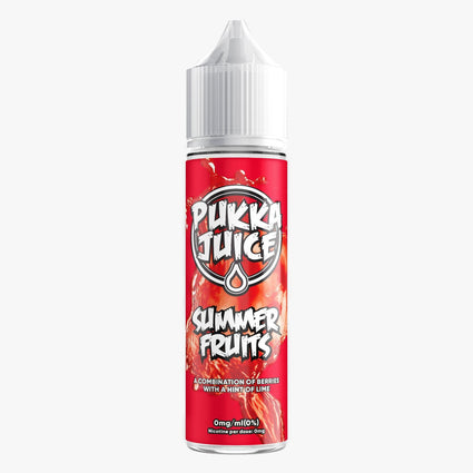 PUKKA SUMMER FRUITS 50ML SHORTFILL E-LIQUID - FRUITY MIXED BERRY LIME