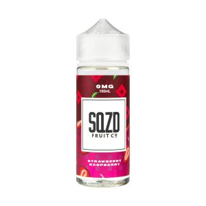 SQZD STRAWBERRY RASPBERRY 100ML SHORTFILL E-LIQUID - FRUITY STRAWBERRY RASPBERRY