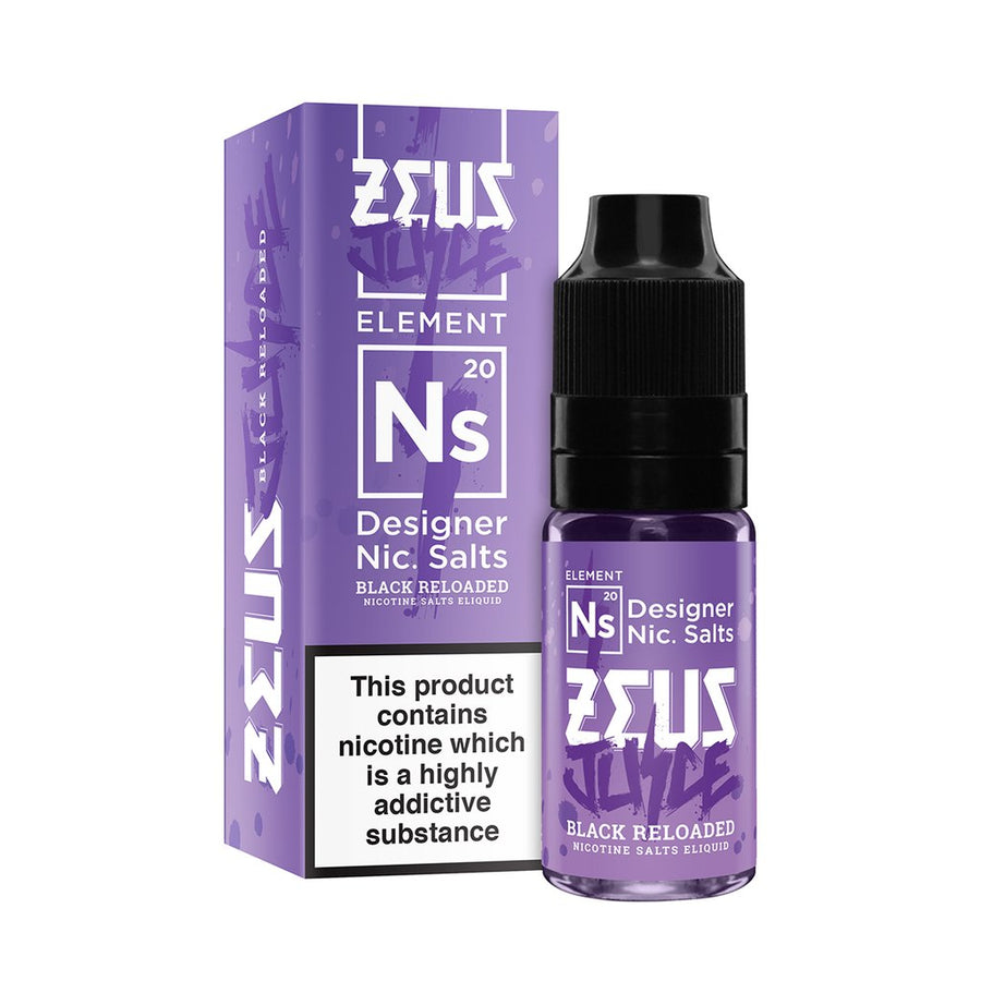 ZEUS BLACK RELOADED 20MG 10ML SALT NICOTINE - FRUITY BLACKCURRANT ANISEED MENTHOL
