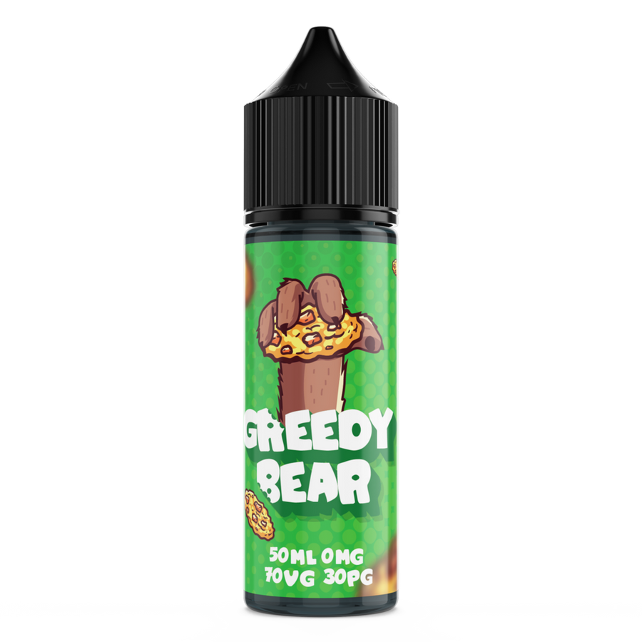 GREEDY BEAR COOKIE CRAVINGS 50ML SHORTFILL E-LIQUID - DESSERT APPLE PEAR CINNAMON COOKIE