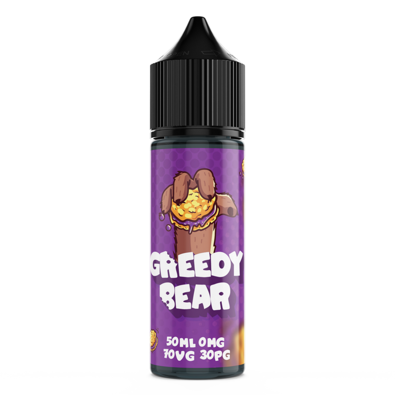 GREEDY BEAR BLOATED BLUEBERRY 50ML SHORTFILL E-LIQUID - DESSERT BLUEBERRY JAM COOKIE